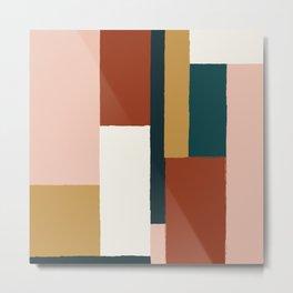 Spring Color Block Metal Print