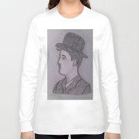 charlie chaplin Long Sleeve T-shirts featuring Charlie Chaplin by Natasha Lake