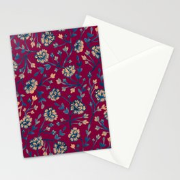 Watercolor Peonies - Ruby Red Stationery Cards