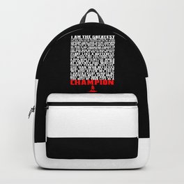 I am the greatest... Life Inspirational Quote Backpack