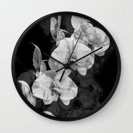 Amanda's Orchid Wall Clock