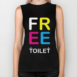 TOILET CLUB #free Biker Tank