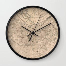 Vintage Map of Louisville Kentucky (1873) Wall Clock