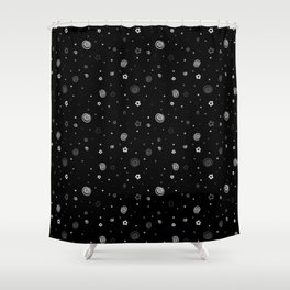 Stars and Swirls Shower Curtain
