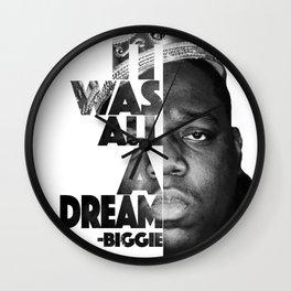 Urban Biggie Smalls Lyrics/Text Font Wall Clock