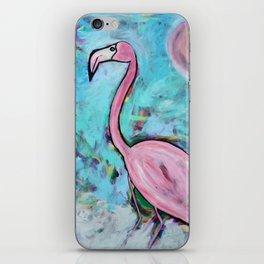 Flamingo at Sunset iPhone Skin