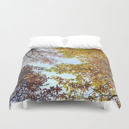 """Up in the air II"". Autumn colors Duvet Cover"