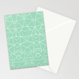Abstract Mirror Mint Stationery Cards
