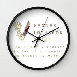 Ragnar lothbrok trave Wall Clock