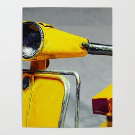 Yellow Vintage Scooter (Color) Poster