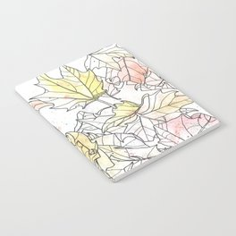 Autumn Leaves Watercolor Notebook