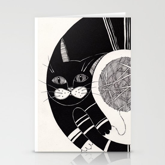 cats life: playing Stationery Cards