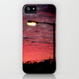 British Winter Sunset iPhone Case