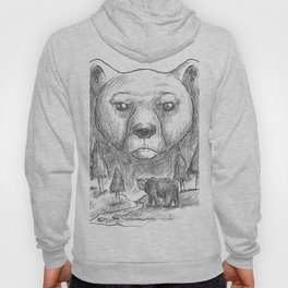 Bear Fur Under This Shirt. Funny Humorous Design for Natural Body Lovers. Furry Body shirts for men, Hoody