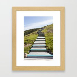 stairs up the hillside Framed Art Print