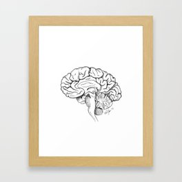 Brain in Ink Framed Art Print