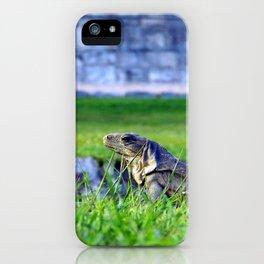 Mayan Iguana iPhone Case