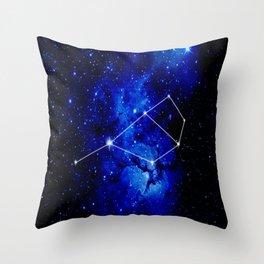 Pleiades Constellation Star Map Throw Pillow