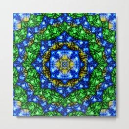 Electric Lotus Mandala Metal Print