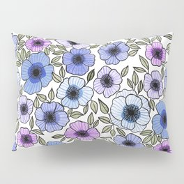 Poppy Purples Pillow Sham
