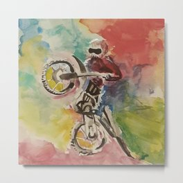Happiness is a Sport Metal Print