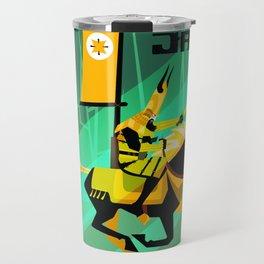 Last Ride of Samurai Jack (Gold) Travel Mug