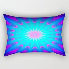 Fuchsia Pink & Blue starburst Rectangular Pillow