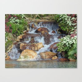 Water feature at Sea World Canvas Print