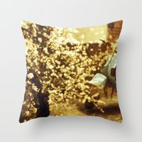 motorbike Throw Pillows featuring Motorbike by JavierPineroFoto