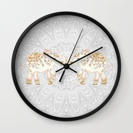 ALHAMBRA ELEPHANT GREY by Monika Strigel Wall Clock