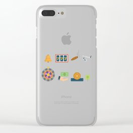 Cash, Chips, Cards & Roulette Nevada Day Clear iPhone Case