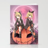 vocaloid Stationery Cards featuring vocaloid black cats by Sunny