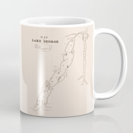1853 Map of Lake George (sepia) Coffee Mug