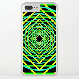 Diamonds in the Rounds Blacklight Neons Yellow Greens Clear iPhone Case