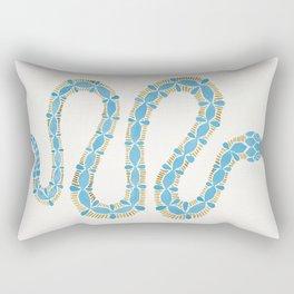 Serpent – Cornflower Blue & Gold Rectangular Pillow