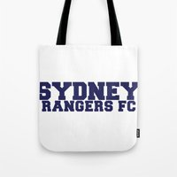 college Tote Bags featuring College - Blue by Sydney Rangers FC