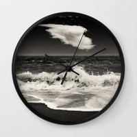 spain Wall Clocks featuring Mijas, Spain by Carlos Sanchez