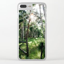 Sunshine through the trees Clear iPhone Case