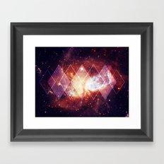 Shining Nebula - Red Framed Art Print