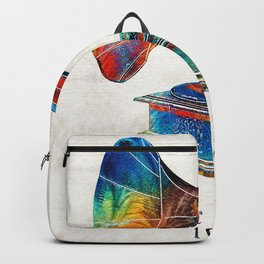 Colorful Phonograph Art by Sharon Cummings Backpack