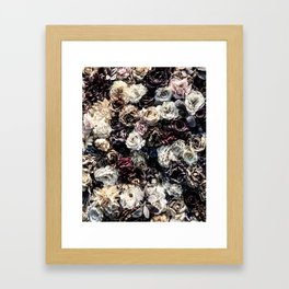 Flower Wall // Desaturated Vintage Floral Accent Background Jaw Dropping Decoration Framed Art Print