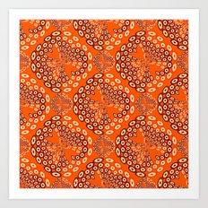 Geometric imitating floral Art Print