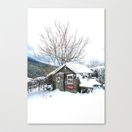 Rustic Shed Snowday Canvas Print
