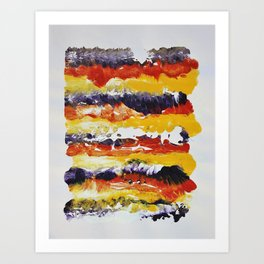 Stripes of Color Art Print