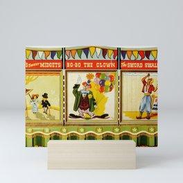 Circus Sideshow Poster Mini Art Print