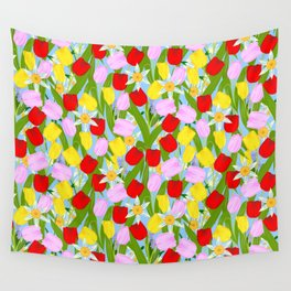 bright spring flowers Wall Tapestry