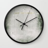 whatever Wall Clocks featuring Whatever by Sybille Sterk