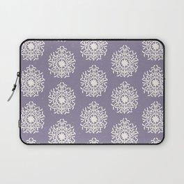 purple regal rosette pattern Laptop Sleeve