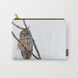 Barred Owl visitor on New Years Eve Carry-All Pouch