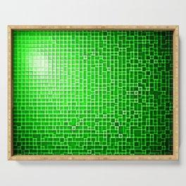 Green Pixels Serving Tray